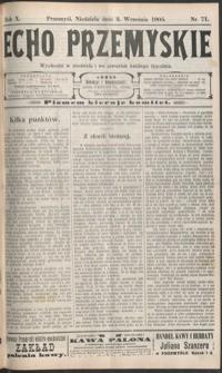 Echo Przemyskie : organ Stronnictwa Katolicko-Narodowego. 1905, R. 10, nr 71-78 (wrzesień)