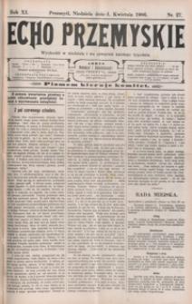 Echo Przemyskie : organ Stronnictwa Katolicko-Narodowego. 1906, R. 11, nr 27-35 (kwiecień)