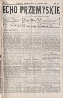 Echo Przemyskie : organ Stronnictwa Katolicko-Narodowego. 1906, R. 11, nr 45-52 (czerwiec)