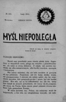 Myśl Niepodległa 1913 nr 233