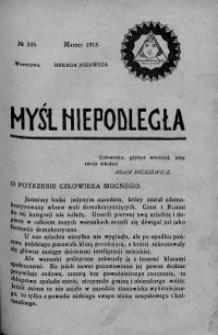 Myśl Niepodległa 1913 nr 235