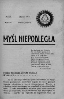 Myśl Niepodległa 1913 nr 236
