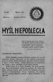 Myśl Niepodległa 1913 nr 237