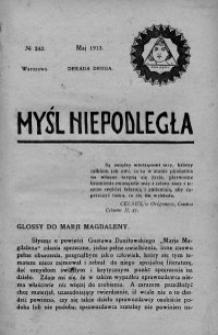Myśl Niepodległa 1913 nr 242