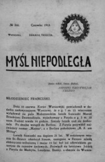 Myśl Niepodległa 1913 nr 246