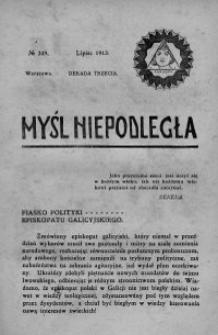 Myśl Niepodległa 1913 nr 249