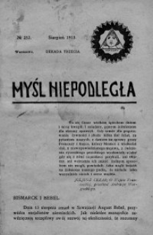 Myśl Niepodległa 1913 nr 252