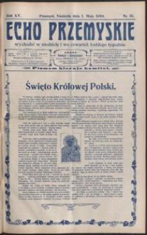 Echo Przemyskie : organ Stronnictwa Katolicko-Narodowego. 1910, R. 15, nr 35-43 (maj)