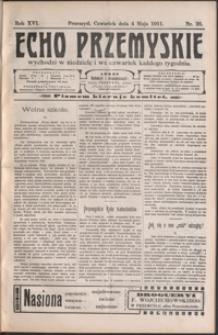 Echo Przemyskie : organ Stronnictwa Katolicko-Narodowego. 1911, R. 16, nr 36-43 (maj)