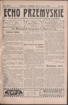 Echo Przemyskie : organ Stronnictwa Katolicko-Narodowego. 1911, R. 16, nr 53-61 (lipiec)