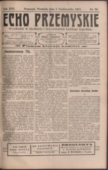 Echo Przemyskie : organ Stronnictwa Katolicko-Narodowego. 1911, R. 16, nr 79-86 (październik)