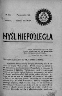 Myśl Niepodległa 1913 nr 256