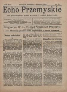 Echo Przemyskie : pismo polityczno-społeczne. 1916, R. 21, nr 71-78 (wrzesień)