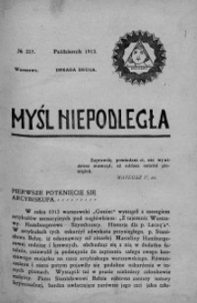 Myśl Niepodległa 1913 nr 257