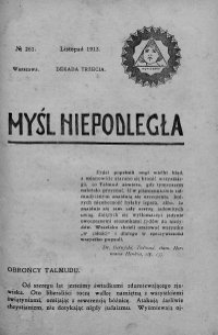 Myśl Niepodległa 1913 nr 261