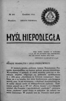Myśl Niepodległa 1913 nr 262