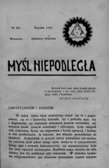 Myśl Niepodległa 1914 nr 267