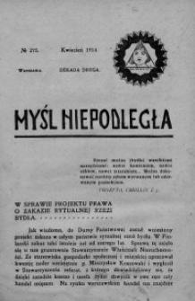 Myśl Niepodległa 1914 nr 275
