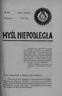 Myśl Niepodległa 1919 nr 458