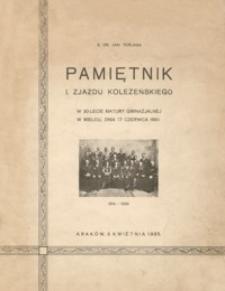 Pamiętnik I. Zjazdu Koleżeńskiego : 1914-1934 : w 20-lecie matury gimnazjalnej w Mielcu, dnia 17 czerwca 1934