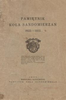 Pamiętnik Koła Sandomierzan 1925-1935