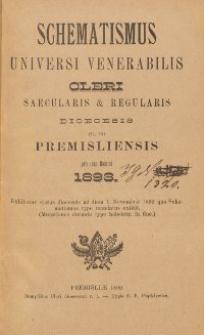Schematismus universi venerabilis cleri Saecularis et Regularis Dioeceseos Ritus Latini Premisliensis pro Anno Domini 1893