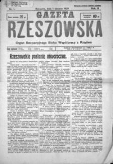 Gazeta Rzeszowska : organ Bezpartyjnego Bloku Współpracy z Rządem. 1929, R. 2, nr 1-52