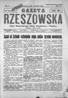 Gazeta Rzeszowska : organ Bezpartyjnego Bloku Współpracy z Rządem. 1932, R. 5, nr 1-52