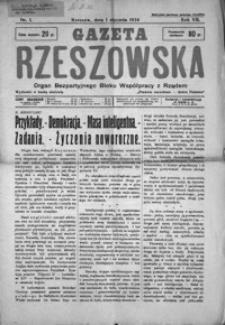Gazeta Rzeszowska : organ Bezpartyjnego Bloku Współpracy z Rządem. 1934, R. 7, nr 1-52