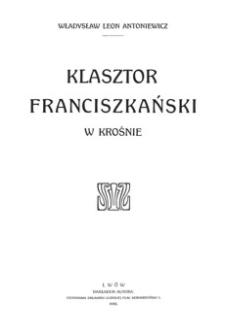 Klasztor franciszkański w Krośnie