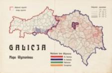 Mapa językowa i wyznaniowa Galicji