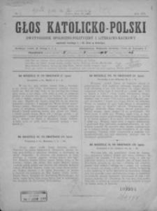 Głos Katolicko-Polski : dwutygodnik społeczno-polityczny i literacko-naukowy. 1901, nr 1-2
