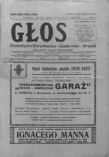 Głos Drohobycko-Borysławsko-Samborsko-Stryjski : niezależny organ Podkarpacia. 1931, R. 6-7, nr 7-17