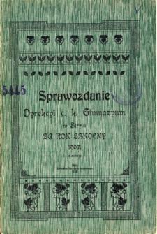Sprawozdanie Dyrekcyi C. K. Gimnazyum w Stryju za rok szkolny 1907