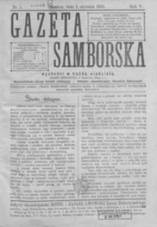 Gazeta Samborska. 1905, R. 5, nr 1-3, 5-37, 39-53