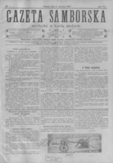 Gazeta Samborska : pismo poświęcone sprawom ekonomicznym i społecznym okręgu: Sambor, Stary Sambor, Turka. 1907, R. 7, nr 1-52