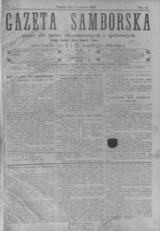 Gazeta Samborska : pismo dla spraw ekonomicznych i społecznych okręgu: Sambor, Stary Sambor, Turka. 1909, R. 9, nr 1-24