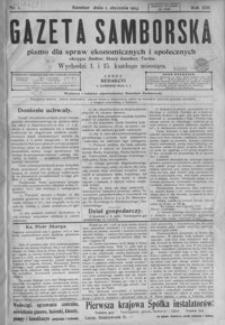 Gazeta Samborska : pismo dla spraw ekonomicznych i społecznych okręgu: Sambor, Stary Sambor, Turka. 1913, R. 13, nr 1-6, 8