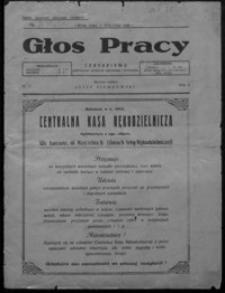 Głos Pracy : czasopismo poświęcone sprawom rękodzieła i przemysłu. 1928, R. 2, nr 1, 2-3