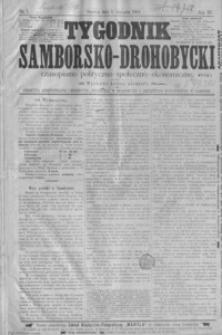 Tygodnik Samborsko-Drohobycki : czasopismo polityczno-społeczno-ekonomiczne. 1902, R. 3 nr 1-46, 48-52