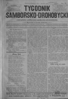 Tygodnik Samborsko-Drohobycki : czasopismo polityczno-społeczno-ekonomiczne. 1906, R. 7, nr 1-27
