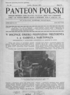 Panteon Polski : poświęcony bohaterskim czynom żołnierza polskiego, kronice walk o niepodległość, pamięci i czci poległych obrońców ojczyzny o niepodległość w latach 1914-1921. 1927, R. 4, nr 28-39