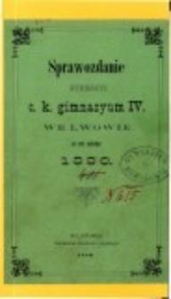 Sprawozdanie Dyrekcyi C. K. IV. Gimnazyum we Lwowie za rok szkolny 1880