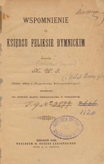 Wspomnienie o księdzu Feliksie Dymnickim
