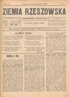 Ziemia Rzeszowska : czasopismo narodowe. 1920, R. 2, nr 1 - 27