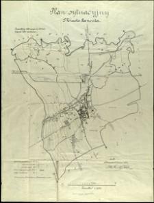 Plan sytuacyjny miasta Łańcuta