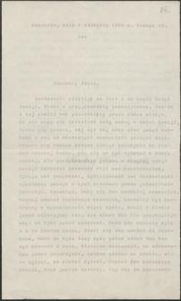 [List Andrzeja Niemojewskiego do Józefa Wiśniowskiego, 05.08.1903]