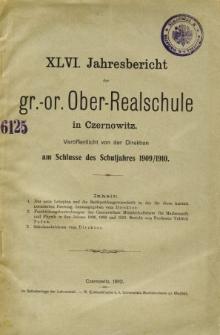 Jahresbericht der Gr.-Or. Ober-Realschule in Czernowitz am Schlusse des Schuljahres1909/1910