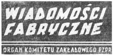Wiadomości Fabryczne : organ Komitetu Zakładowego Polskiej Zjednoczonej Partii Robotniczej. 1958, R. 7, nr 4 (15-28 luty)