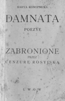 Damnata : poezye